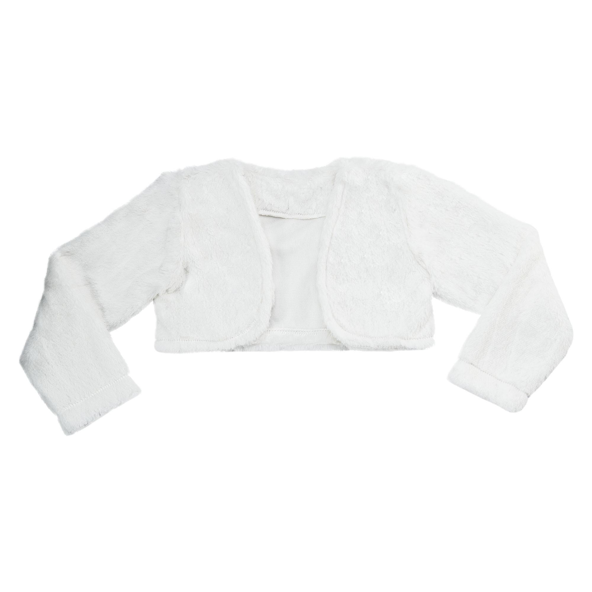 Bolero Libelinha para bebê em pele – Branco