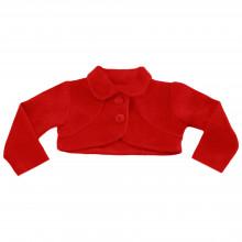Bolero infantil Libelinha em plush – Vermelho